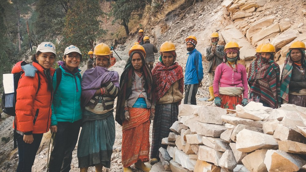 'When I was young I was taught that everyone in this world is created equal; despite the disparity in today's society, I continue to believe this in RAP.'   Ayasta Pokharel (second from left), RAP Graduate Engineer