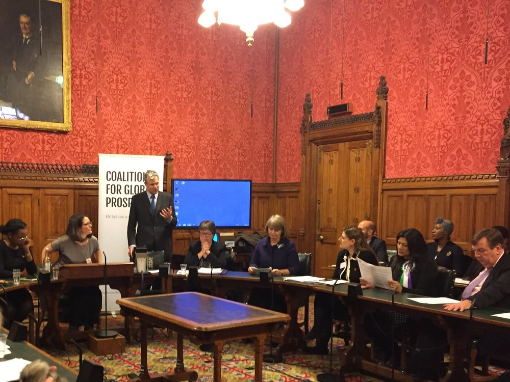 Zac Goldsmith MP, co-chair of the APPG to End FGM, hosted the evening in Parliament