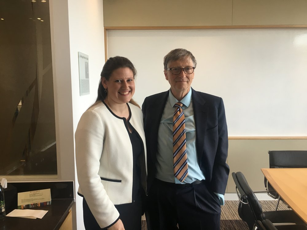 Theo Clarke, our CEO, with Bill Gates on Tuesday 17th April 2018