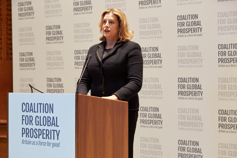 Secretary of State for International Development Penny Mordaunt MP
