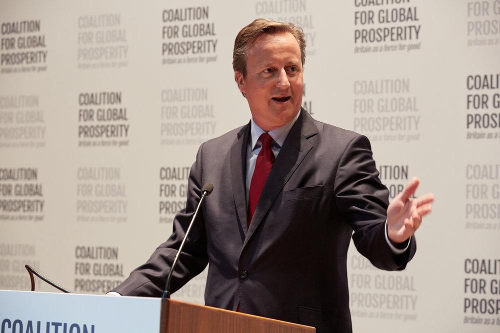 Former UK Prime Minister   The Rt Hon David Cameron