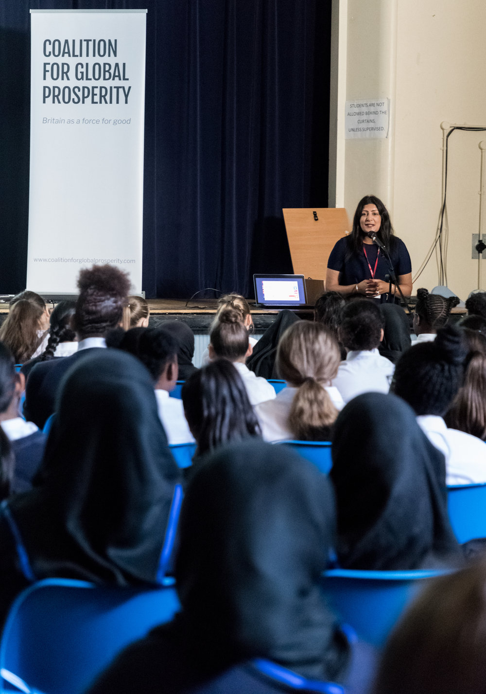 Preet Kaur Gill MP speaking at the event at Lordswood Girls' School