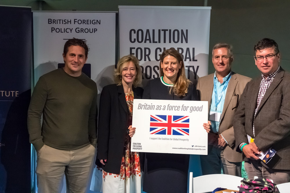 Johnny Mercer MP   ,    Baroness Julie Smith   ,    Theo Clarke    CEO of the Coalition for Global Prosperity, Lieutenant General    Philip Jones    &   Tom Cargill    Director of the British Foreign Policy Group