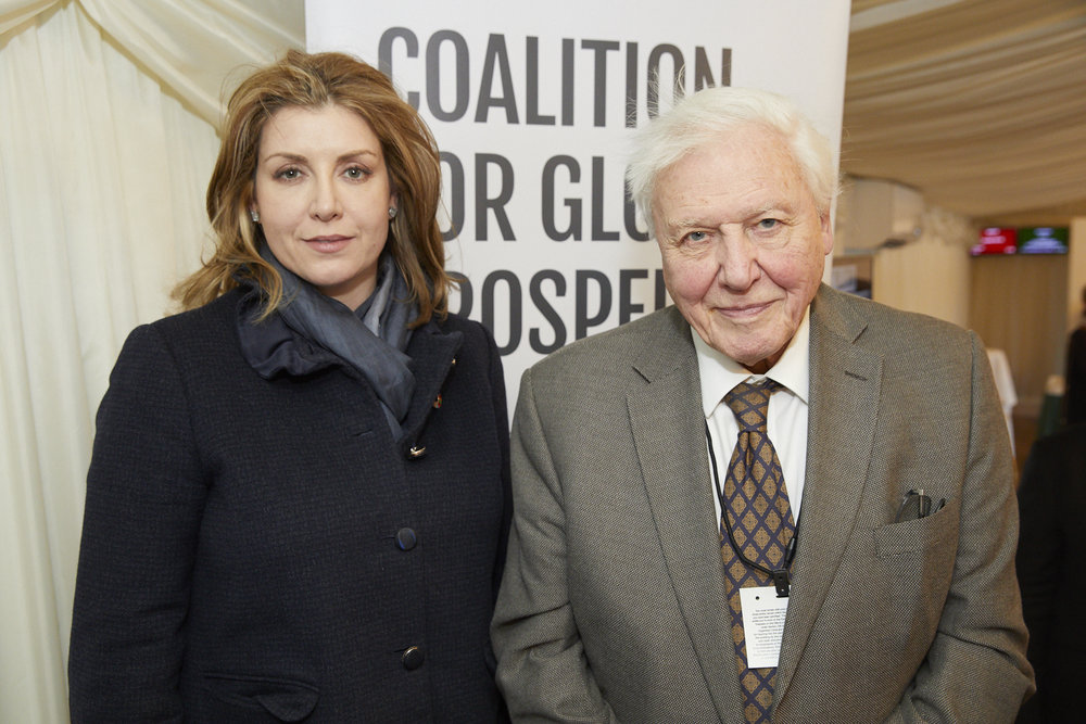 The Rt Hon Penny Mordaunt MP and Sir David Attenborough CBE