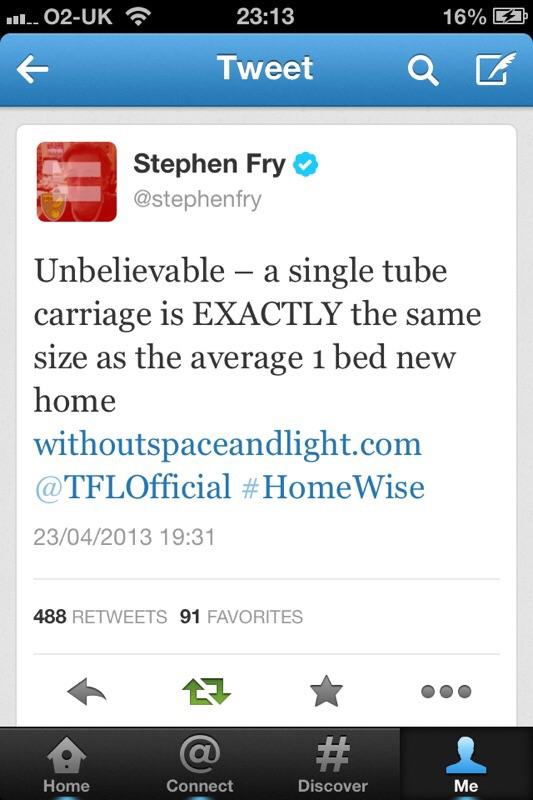 photo of a Stephen Fry Tweet