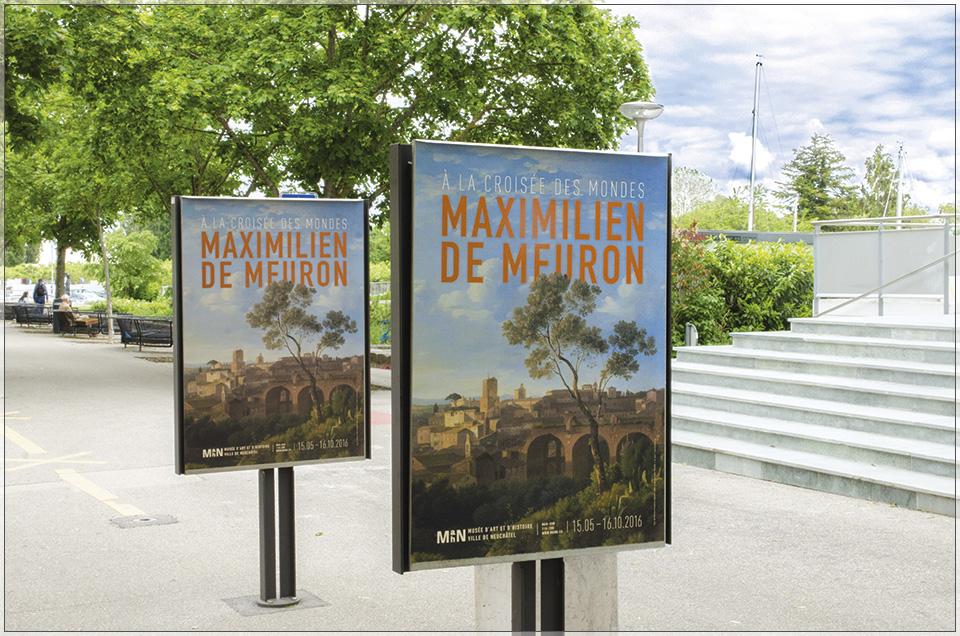 """Affiche de l'exposition """"Maximilien de Meuron, à la croisée des mondes"""""""