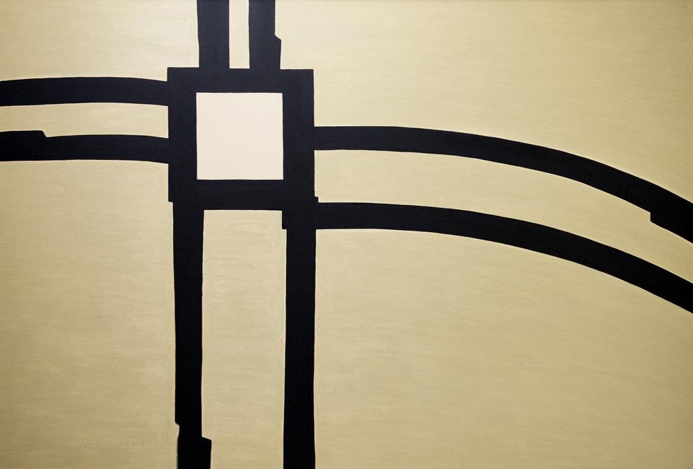 Philippe Grosbéty,  Composition, avant 1972 , 2000, huile sur toile