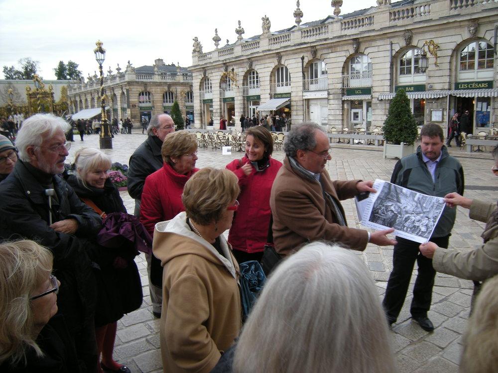 Visite de Nancy lors du voyage culturel des 30 et 31 octobre 2010