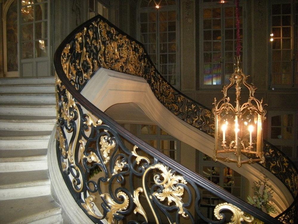 La cage d'escalier de l'Hôtel de Ville