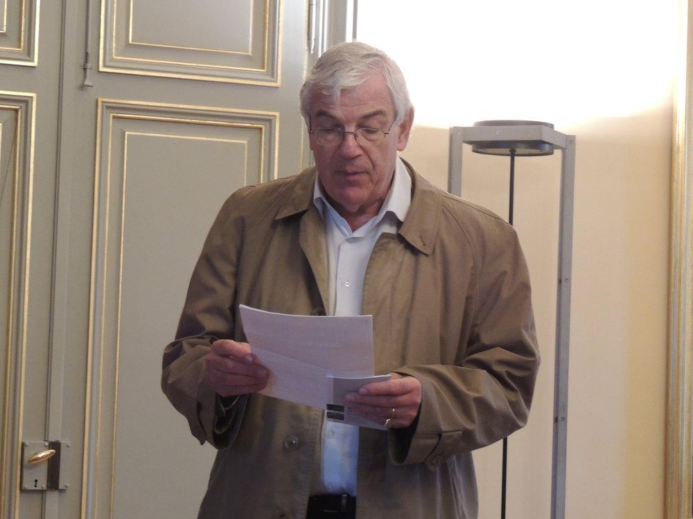 Renaud de Montmollin, toujours très bien préparé pour donner toutes les explications nécessaires quant aux lieux que nous visitons