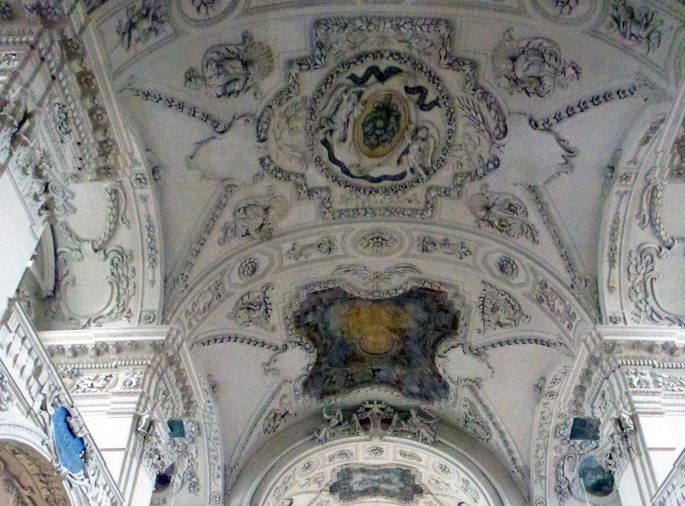 Détail du décor du plafond