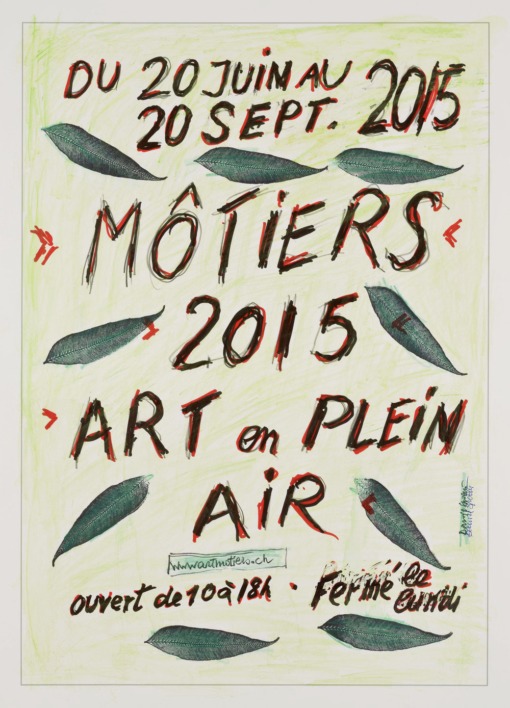 "L'affiche ""Môtiers 2015, Art en plein air"""