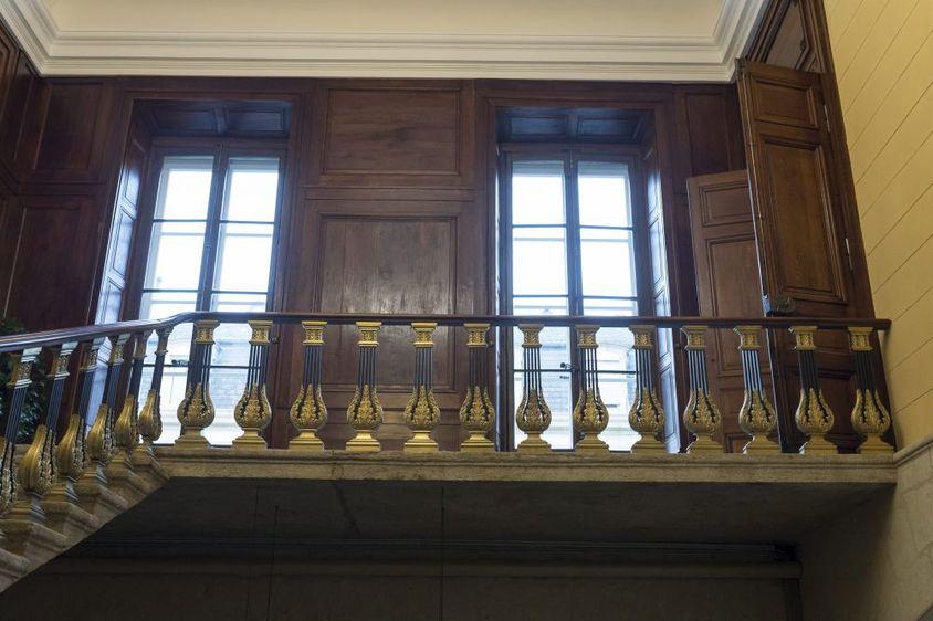 Le haut de la cage d'escalier
