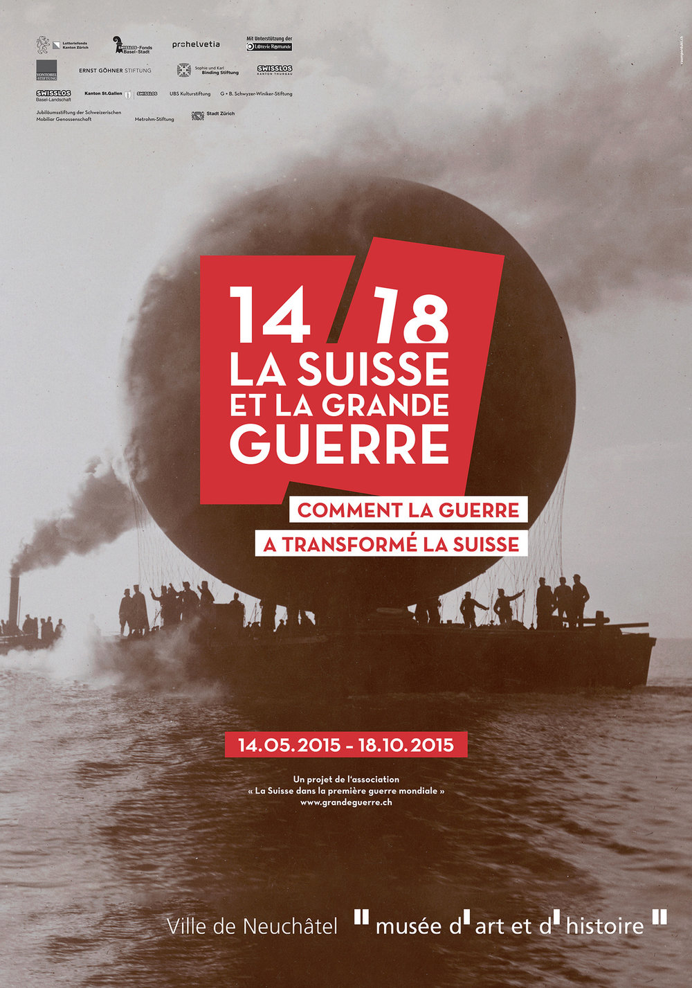 Affiche de l'exposition présentée au MahN du 14 mai au 18 octobre 2015