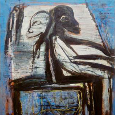 Africa Memento , 1995, huile sur toile, 180 x 130 cm