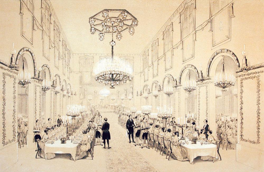 Banquet offert à Frédéric Guillaume IV dans la propriété Pourtalès-Castellane, 1842