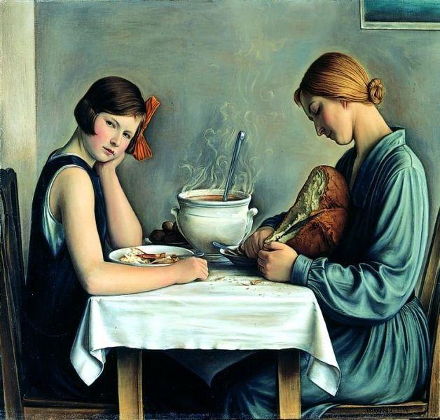 La tailleuse de soupe , François-Emile Barraud, huile sur toile, 1933