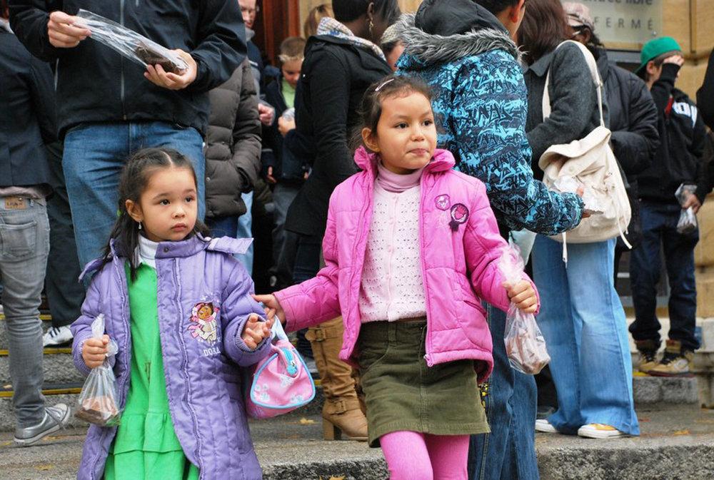 Tout le monde - surtout les enfants - ont pu repartir avec des sachets emplis de délicieuses gourmandises