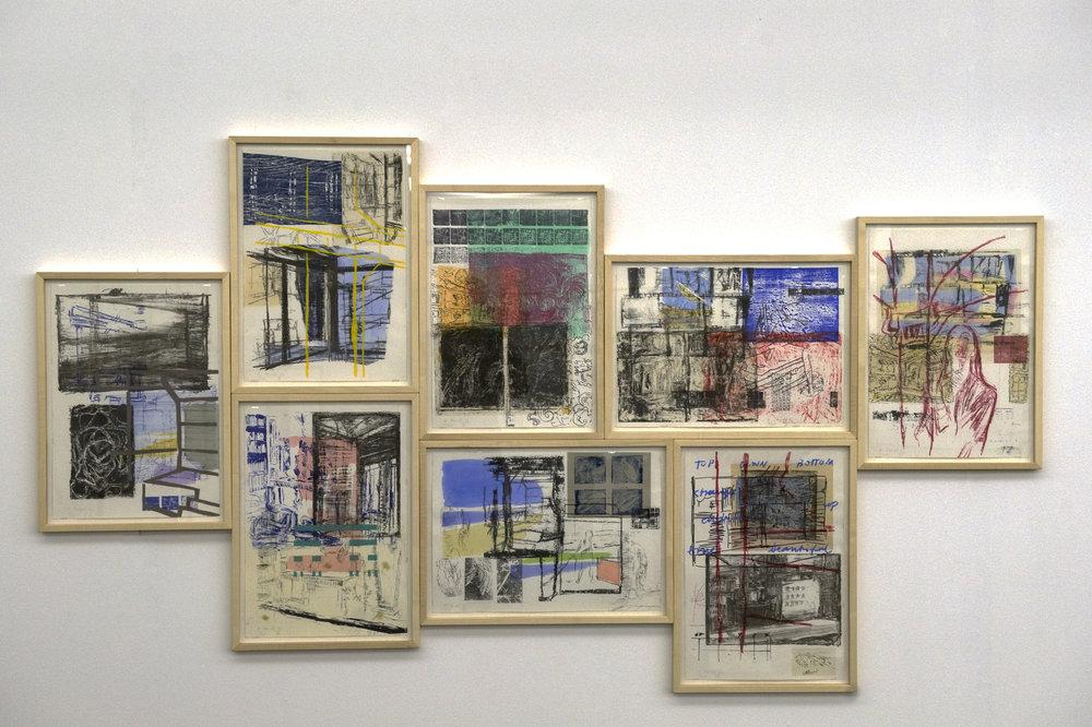 René Fendt : Chaos. Fresken, Fragmente, Fraktale , 1992, suite de 8 gravures en technique mixte