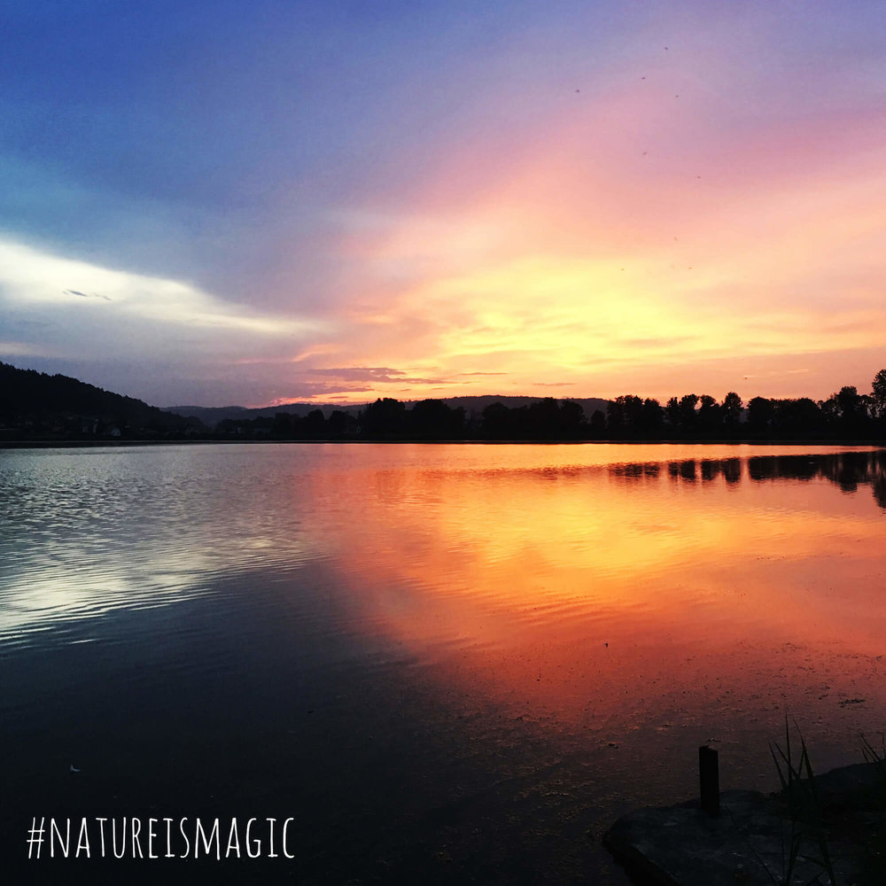 @kirchbergvital  Gestern Abend in Kirchberg #sundown #mühlteich #kirchberganderraab #natureismagic