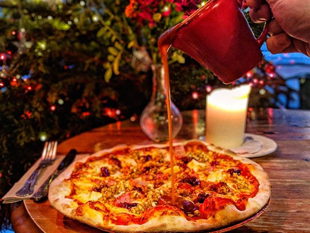 Open from 12pm 🍸  Take a break from that sale shopping & join us for a festive pizza 😍 🍕  Serving food 12-8pm xo