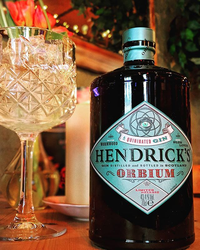 New Gin Alert 😍  @hendricksgin Orbium🍸  Infused with quinine and wormwood, rounded with blue lotus blossom!  This Gin is special & we recommend it with soda to truly bring out the gins unique flavours.  #Gin  #Hendricks  #Orbium
