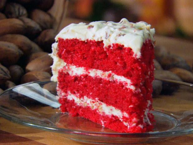 Red Velvet Cake  A traditional southern treat! Red Velvet cake with cream cheese frosting. (nuts available upon request.)