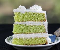 Keylime Cake  Our keylime cake is a spin on American's favorite pie. Filled with cream cheese icing and bits of graham cracker crust.