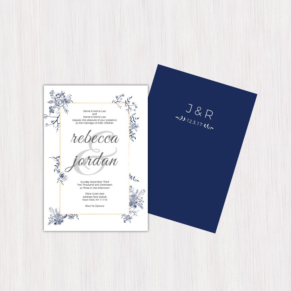 Wedding Invitation Design: Becca & Jordan — R+P Design