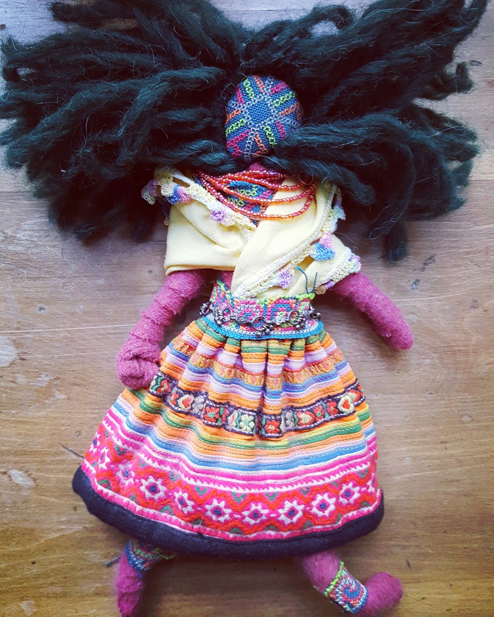 For Mumsy - This doll was inspired by fabric from Thailand. My mum took me on a trip to South East Asia for my 40th birthday and I made her this doll to thank her. I so admire her adventurous spirit. Love you mumsy. xo