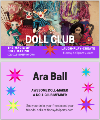 How do I become a doll club member? - All you have to do is make ONE DOLL and you're in DOLL CLUB . Join an AFTER SCHOOL PROGRAM or have a DOLL BIRTHDAY PARTY and you will get your personalized Doll Club Card!