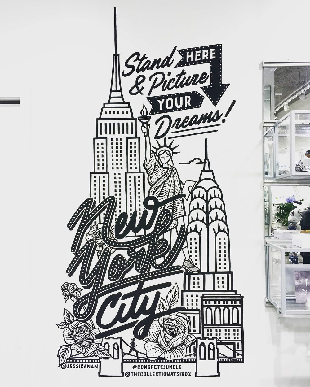 SIX:02 / FOOTLOCKER - NYC MURAL