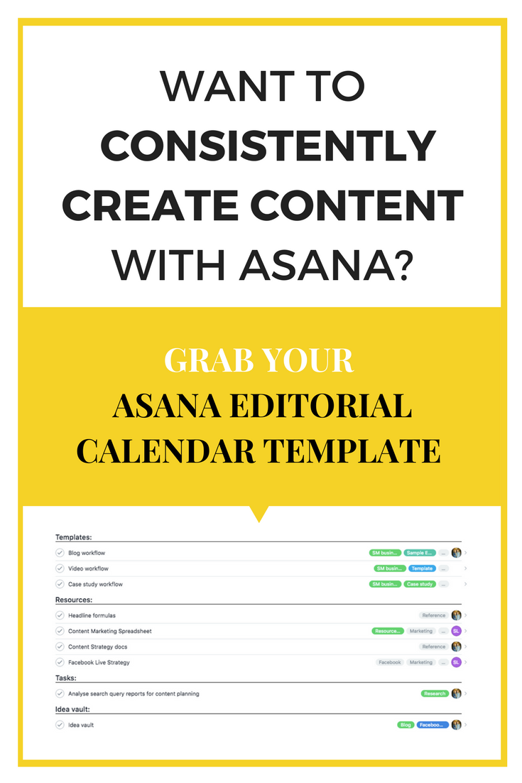 Create an Asana editorial calendar and follow our step-by-step guide to simplifying and streamlining your blogging process in 5 steps with Asana. #asana #editorialcalendar #blogging #bloggingtips #solopreneur