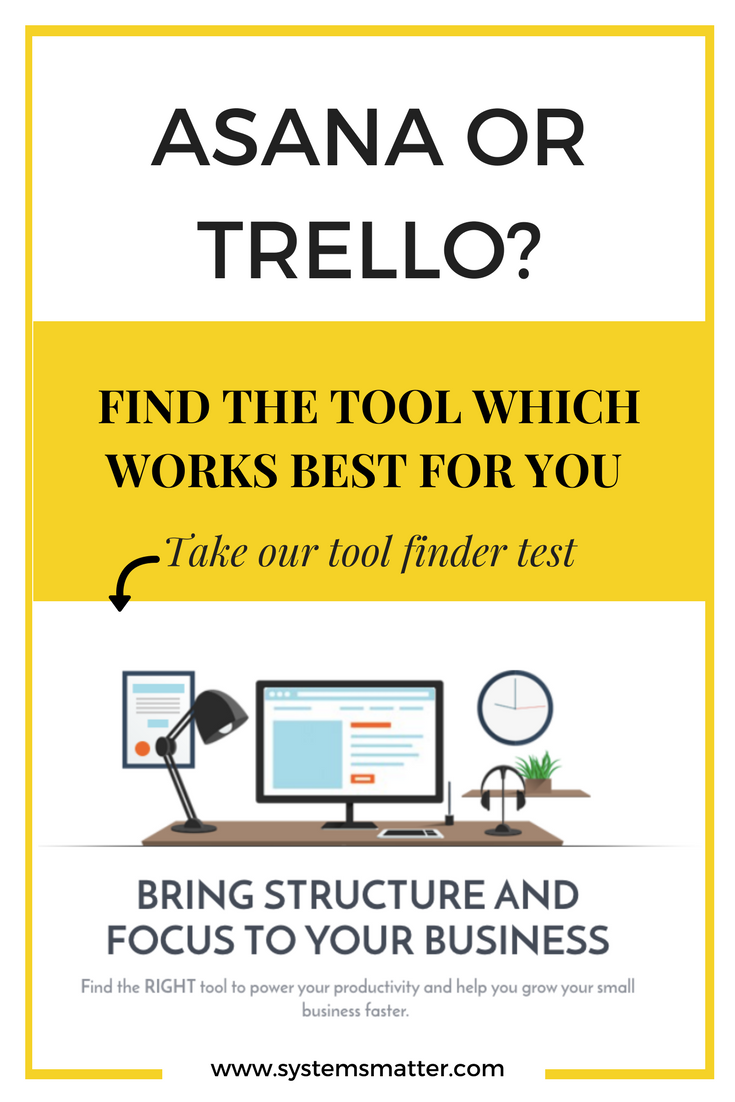 Do you know which tool will take your productivity and your business to the next level? Take the Tool Finder to discover which tool will help you find your focus, get more done and grow your business without losing your sanity. #productivity #asana #trello #evernote #projectmanagement #smallbusiness #solopreneur #businesstips