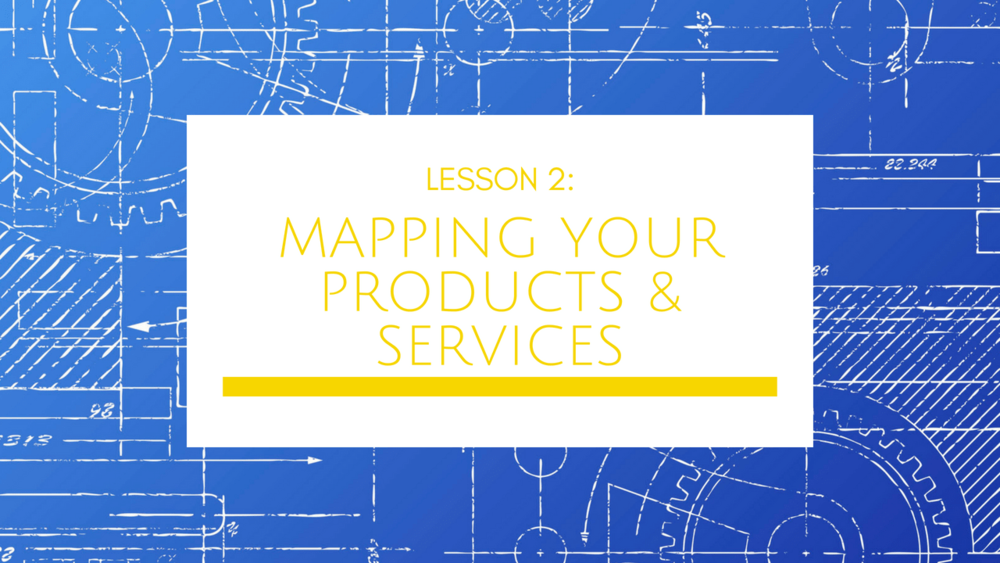 Small Business Growth Blueprint Lesson 2: Mapping Your Products & Services