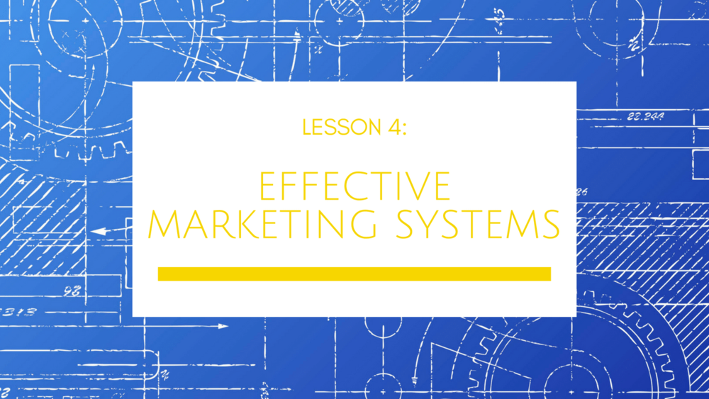Small Business Growth Blueprint Lesson 4: Effective Marketing Systems