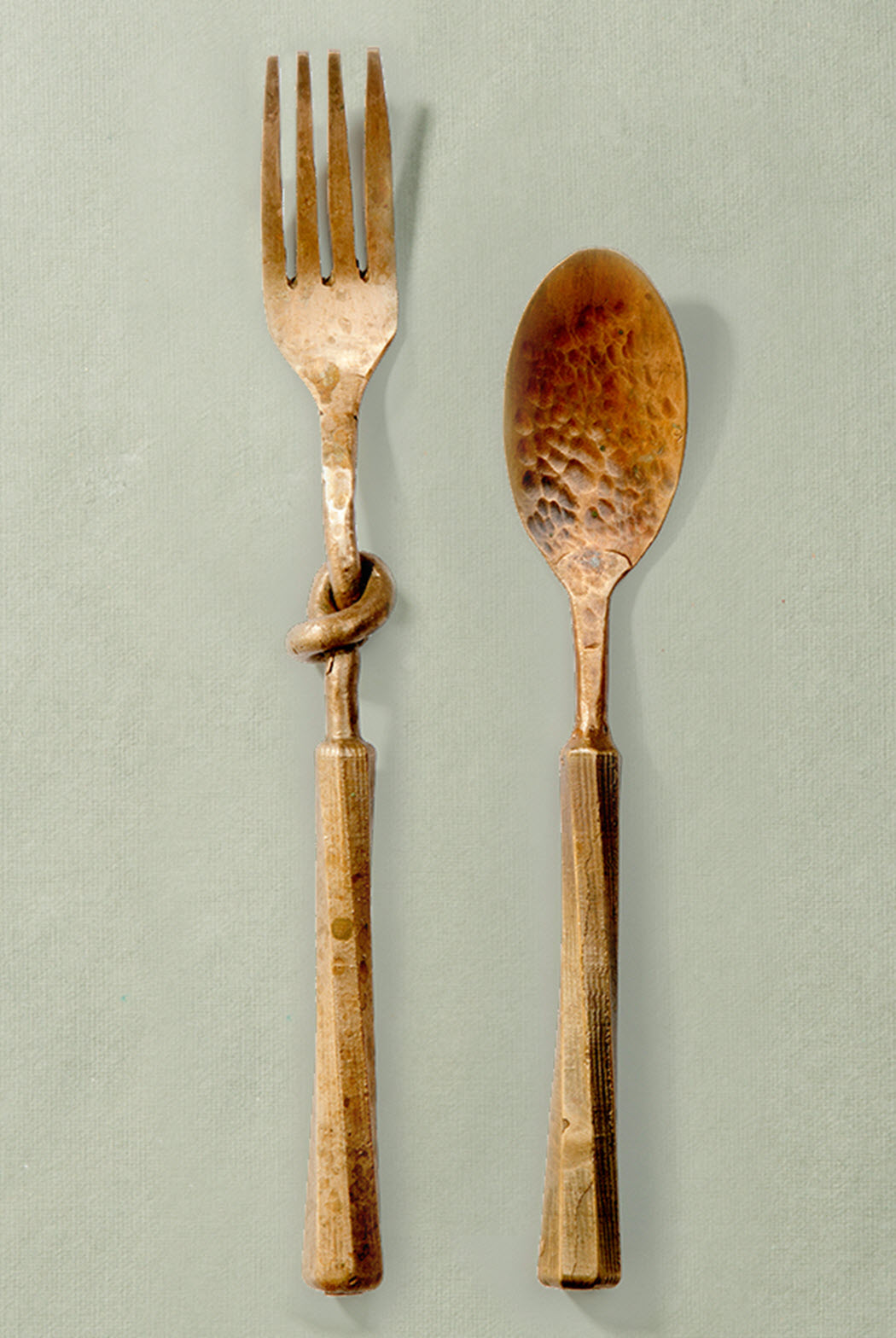Solid Raw Bronze Flatware & Hand-Made Raw Bronze and Silver-Plated Flatware by Sprezzatura ...