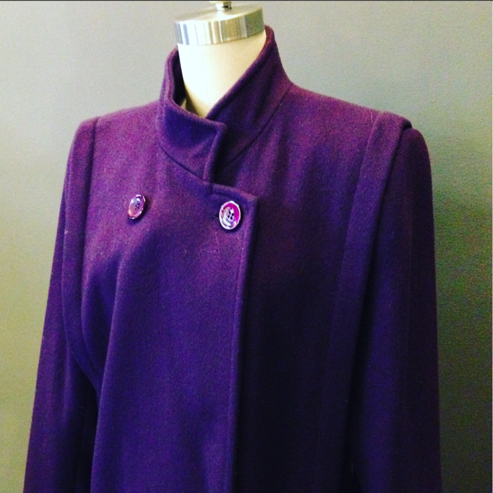 Vintage Purple Dress Coat