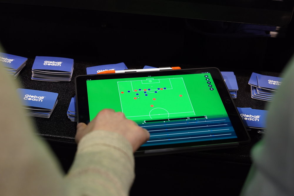 Globall Coach being used on an iPad
