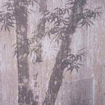 Blue Bamboo on Linen