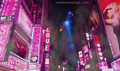 Mildly Vegas inspired, mixed with a bit of Tokyo love hotels