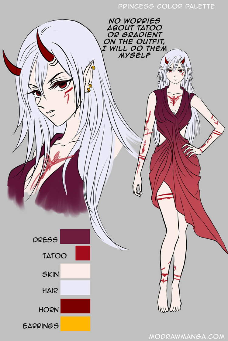 This is Princess Cora, the lead female characters, she is not wearing this dress anymore, she will be wearing the Kasei's jacket in future chapters.