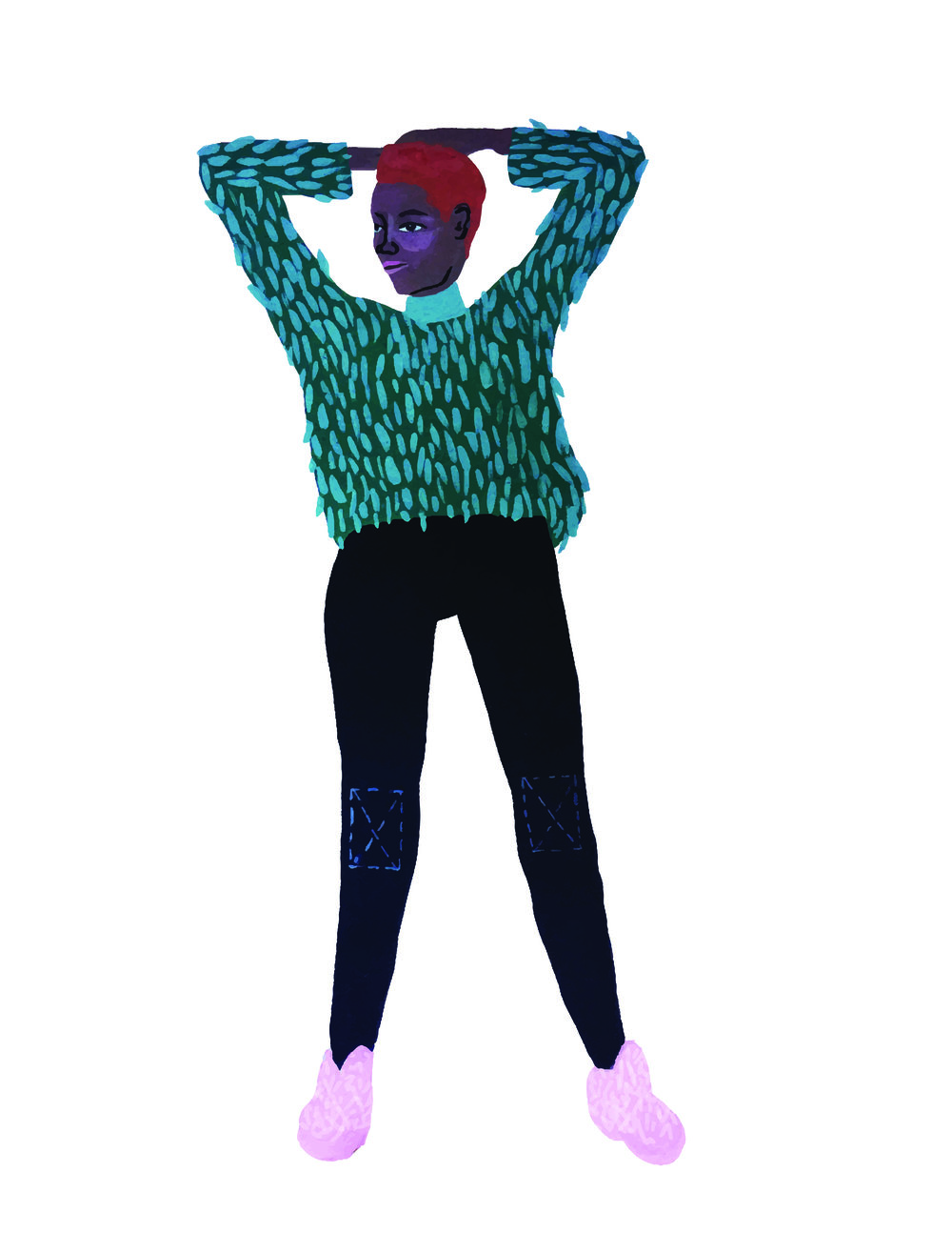 fuzzy sweater lady vector image-01.jpg
