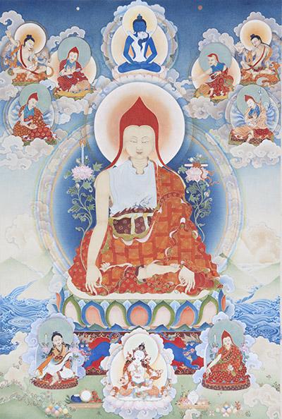 Longchenpa  thangka  by  Tara DiGesu