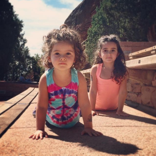 In honor of #internationalyogaday here's a #tbt  from Red Rocks last summer. I got my dream to run the steps at the amphitheater and the girls impressed me with their upward dogs.  May we find the stillness and peace within to keep moving forward to make impactful change. Namaste! ✨✌🏻💕✨   #weareallconnected #peace #natureiseverything