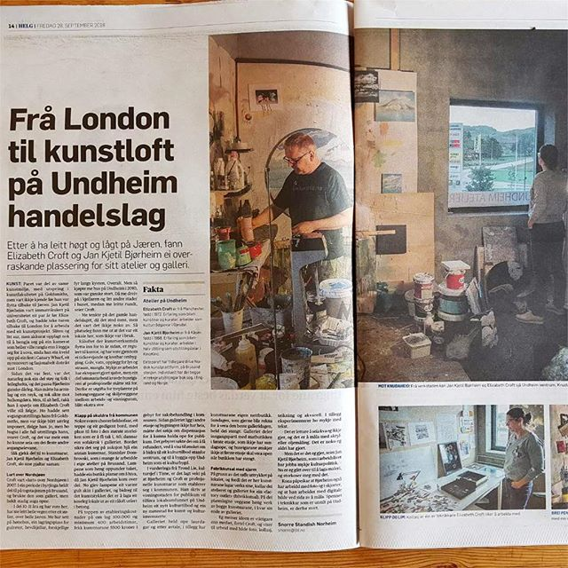 Fin artikkel i Jærbladet i dag. #jærbladet #livetpålandet #undheim #kunst #kunstsalg