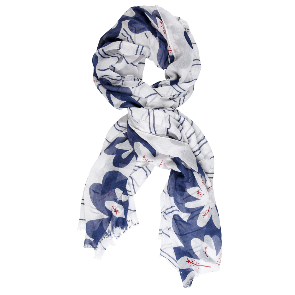 white blue modal scarf online