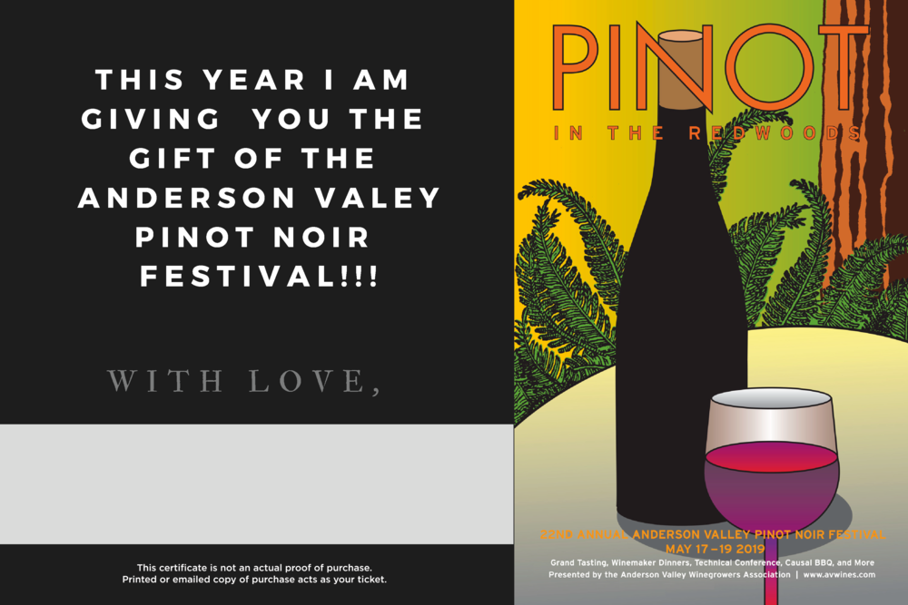 Give the gift of pinot fest -