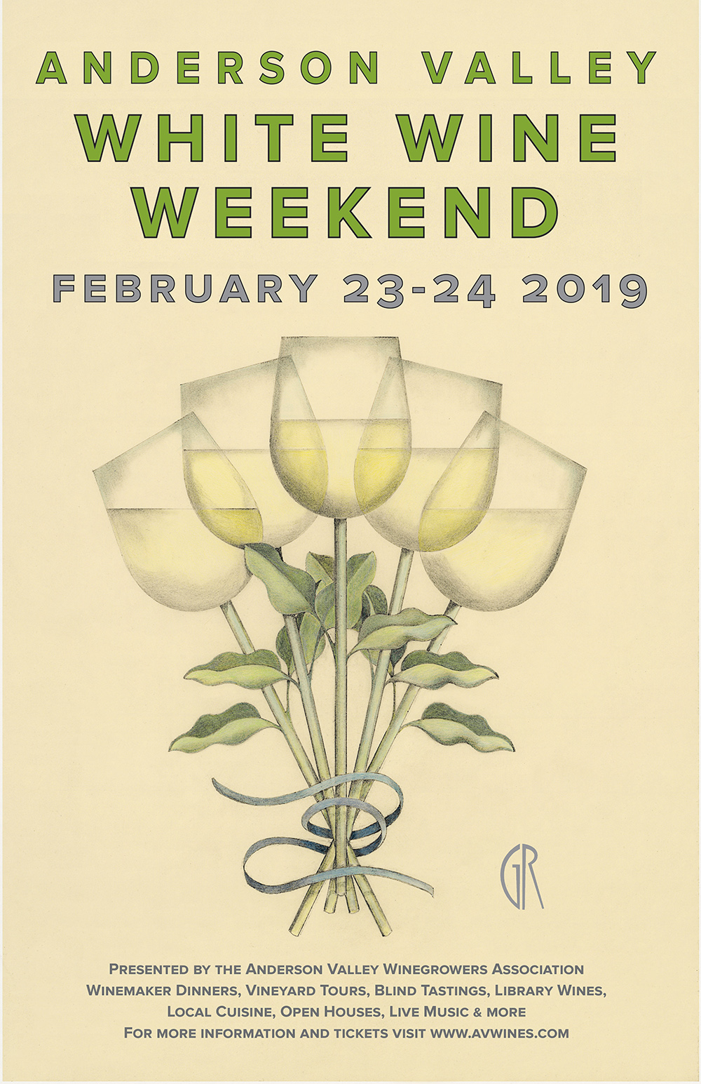 A beautiful time of year to visit wine country. - This winter, Anderson Valley will host a Winter White Wine Weekend, a combination of the events you know and have come to love. Come celebrate our famed Alsace-style varietals like Gewürztraminer, Pinot Gris, and Riesling, in addition to our award-winning Chardonnay grapes that make the sparkling wines from this region truly shine. Reserve a winemaker dinner and visit Open Houses all weekend.PLEASE NOTE: We are not holding a Grand Tasting or Educational Sessions in 2019. These events will return in 2020.