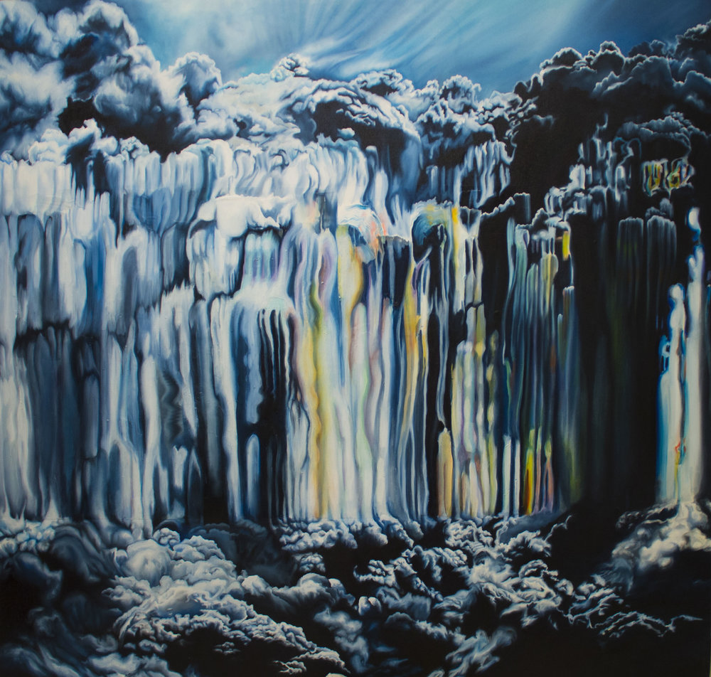 "As Above, So Below    2016  Oil on canvas.  48"" x 48"""